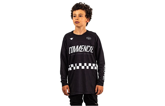 MAILLOT KID COMMENCAL/FORBIKE MANCHES LONGUES BLACK