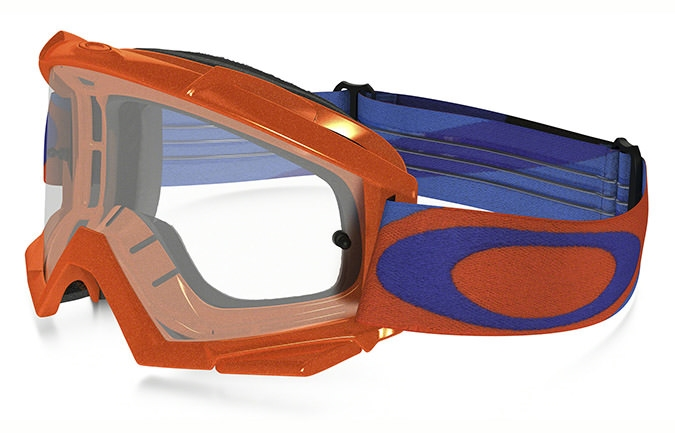 MASQUE OAKLEY PROVEN MX HERITAGE RACER ORANGE/BLEU CLEAR LENS