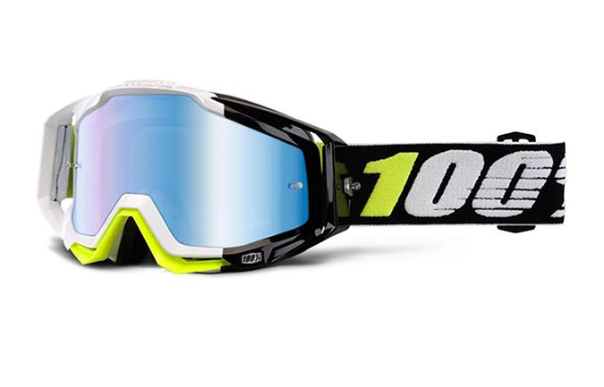 MASQUE 100% RACECRAFT EMARA MIRROR BLUE LENS