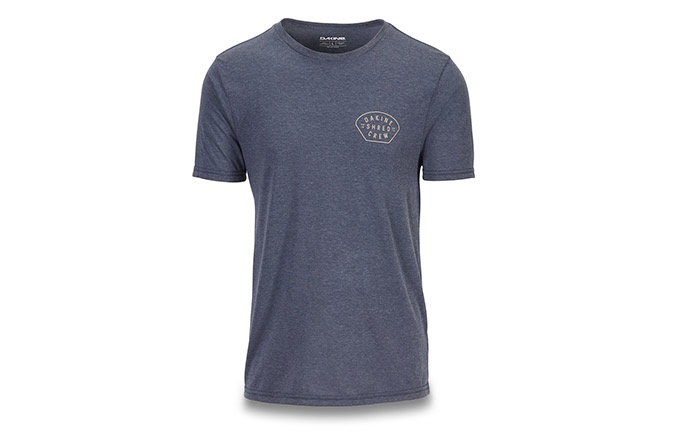 TEE SHIRT MANCHES COURTES DAKINE SHRED CREW TECH T HEATHERNAVY 2019