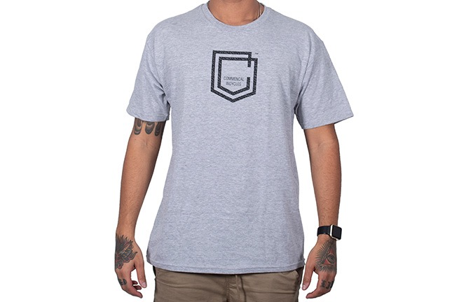 T-SHIRT COMMENCAL SHIELD LIGHT GREY