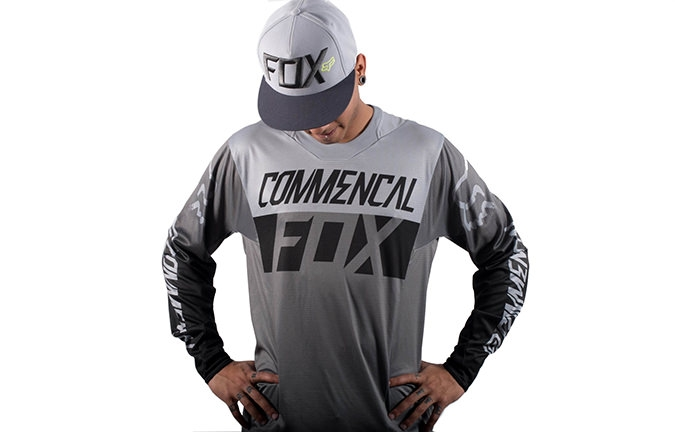 MAILLOT COMMENCAL PAR FOX HEAD GRIS 2016