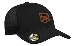 CASQUETTE COMMENCAL TRUCKER VISIERE INCURVEE SHIELD CUIR BLACK 2019