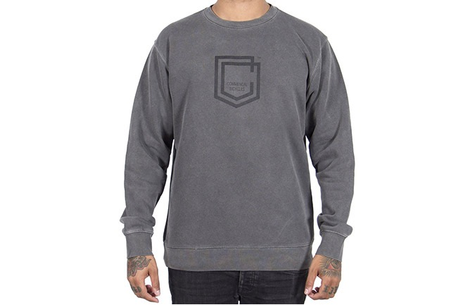 CREWNECK COMMENCAL SHIELD PIGMENT BLACK 2019