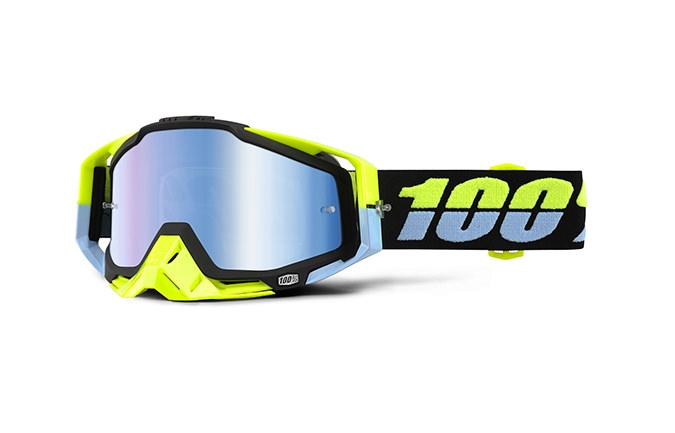 MASQUE 100% RACECRAFT ANTIGUA MIRROR BLUE LENS