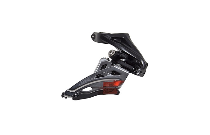 DERAILLEUR AVANT SHIMANO FD-M6020-H 2x10 SPEED TIRAGE LATERAL COLLIER HAUT