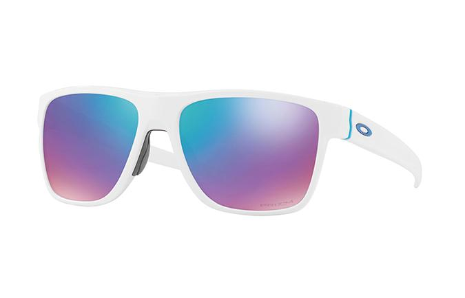 LUNETTES OAKLEY CROSSRANGE XL POLISHED WHITE/PRIZM SAPPHIRE SNOW