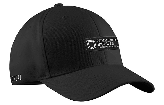 CASQUETTE COMMENCAL VISIERE INCURVEE SHIELD BLACK 2019