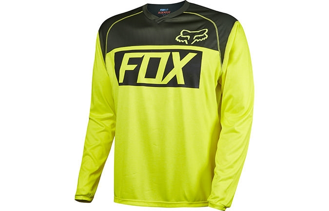 MAILLOT MANCHES LONGUES FOX HEAD INDICATOR JAUNE 2016