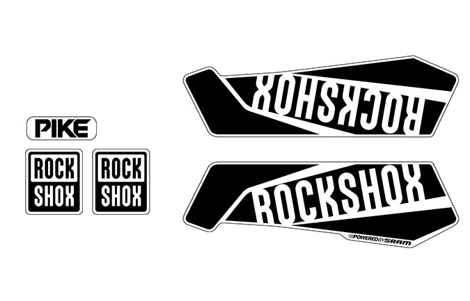 KIT STICKERS ROCKSHOX PIKE SHINY BLACK