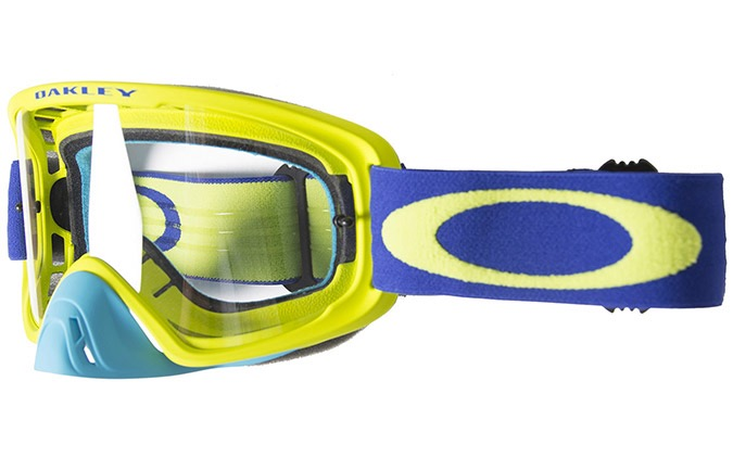 MASQUE OAKLEY O FRAME 2.0 MX LIME BLUE  CLEAR LENS