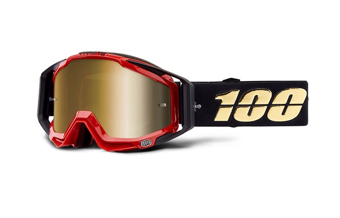MASQUE 100% RACECRAFT HOT ROD - MIRROR TRUE GOLD LENS 2019