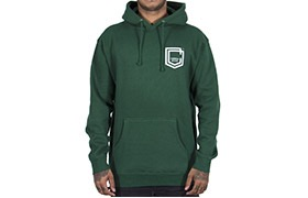HOODIE COMMENCAL SHIELD DARK GREEN