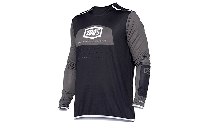 MAILLOT MANCHES LONGUES 100% R-CORE X BLACK/WHITE