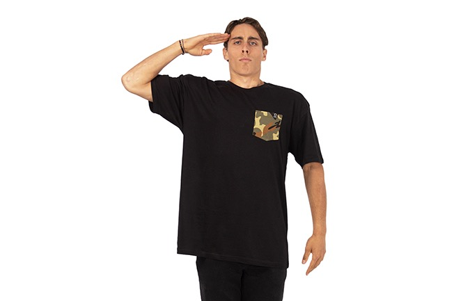T-SHIRT BASIC BLACK / CAMO