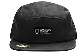 CASQUETTE COMMENCAL FIVE PANEL SHIELD BLACK