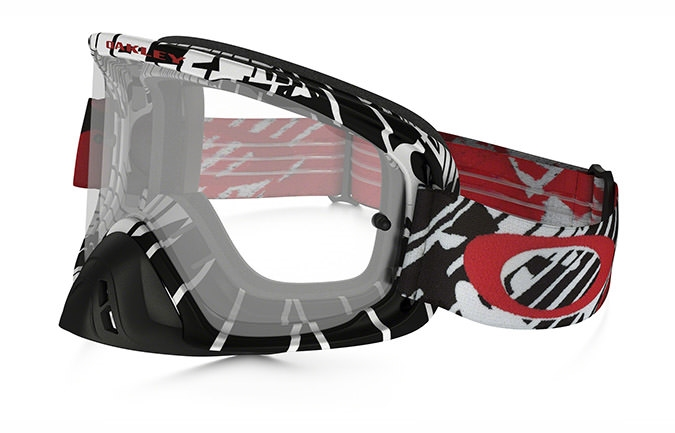 MASQUE OAKLEY O FRAME 2.0 MX SKULL RUSHMORE ROUGE CLEAR LENS