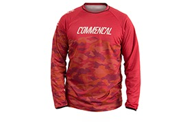 MAILLOT MANCHES LONGUES COMMENCAL TEAM REPLICA RED
