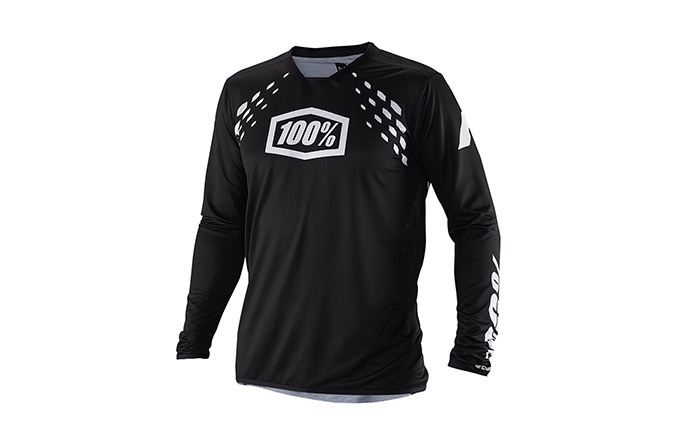MAILLOT MANCHES LONGUES 100% R-CORE X DH BLACK 2019