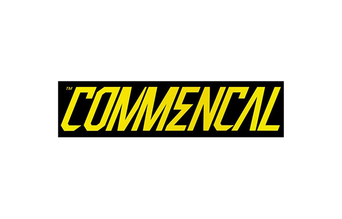 STICKER COMMENCAL JAUNE 300X75MM 2016