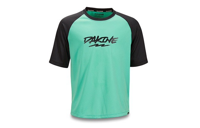 MAILLOT MANCHES COURTES DAKINE KID PRODIGY ELECTRIC MINT 2019