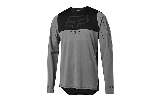 MAILLOT MANCHES LONGUES FOX FLEXAIR DELTA PEWTER