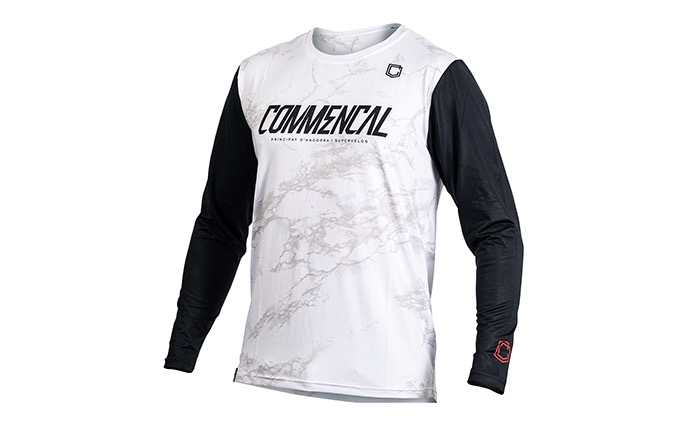 MAILLOT MANCHES LONGUES COMMENCAL WHITE 2020