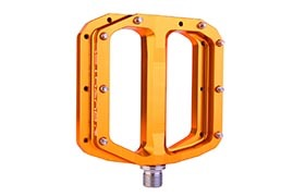 BURGTEC PENTHOUSE FLAT MK4 PEDALS IRON BRO ORANGE
