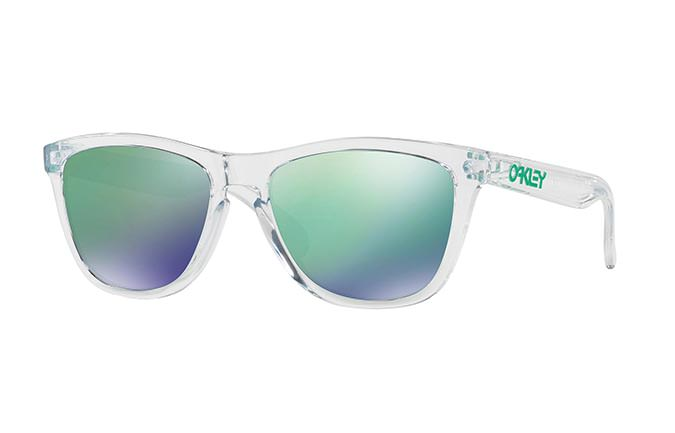 LUNETTES OAKLEY FROGSKINS CRYSTAL CLEAR/JADE IRIDIUM