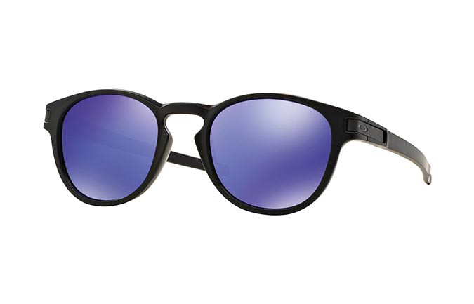 LUNETTES OAKLEY LATCH MATTE BLACK/VIOLET IRIDIUM