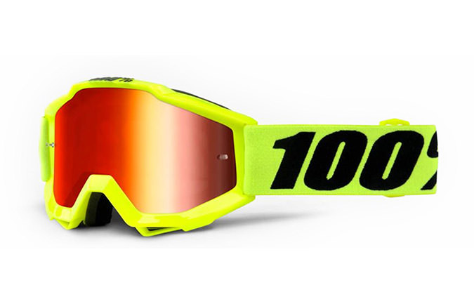 MASQUE KID 100% STRATA NEON YELLOW - MIRROR GOLD LENS