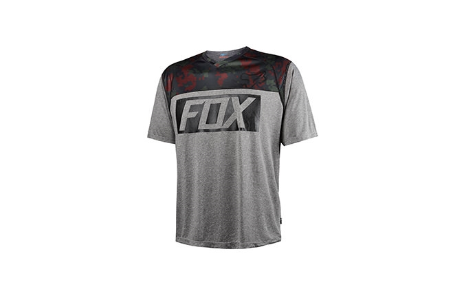MAILLOT MANCHES COURTES FOX HEAD INDICATOR IMPRIME 2016