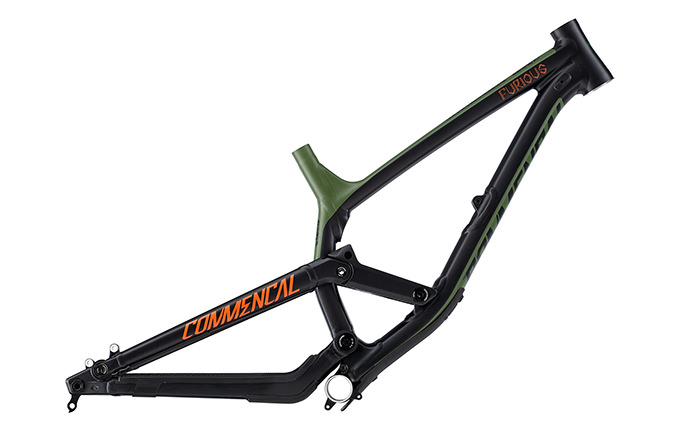 CADRE FURIOUS BRITISH COLUMBIA 650B GREEN/ORANGE/BLACK 2018