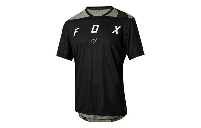 MAILLOT MANCHES COURTES FOX INDICATOR KID BLACK 2018
