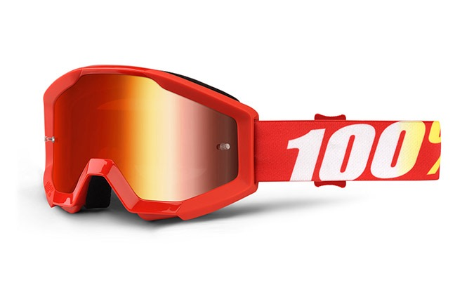 MASQUE 100% STRATA JUNIOR FURNACE - MIRROR RED LENS 2019