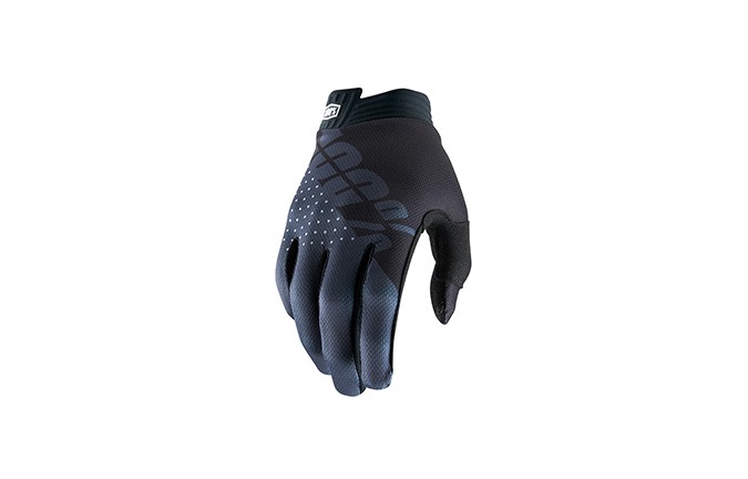 GANTS 100% KID iTRACK BLACK/CHARCOAL