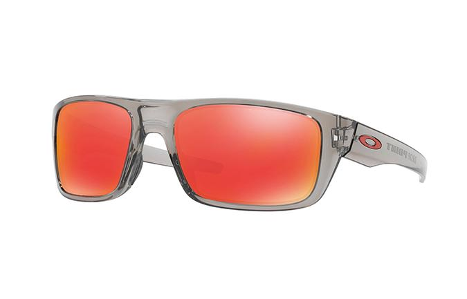 LUNETTES OAKLEY DROP POINT GREY INK/RUBY IRIDIUM