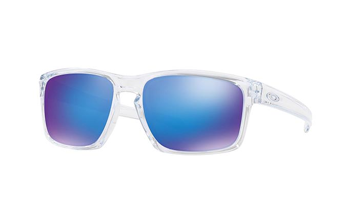 LUNETTES OAKLEY SLIVER POLISHED CLEAR/SAPPHIRE IRIDIUM