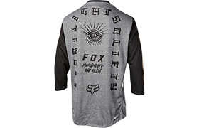 MAILLOT MANCHES 3/4 FOX INDICATOR HEATHER GREY