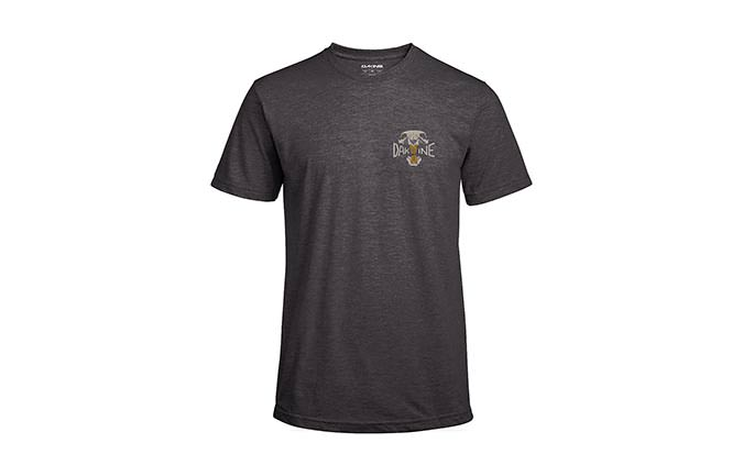 DAKINE OVERBITE TECH T MANCHES COURTES HEATHER BLACK 2018