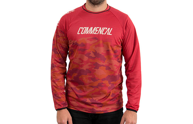 MAILLOT MANCHES LONGUES COMMENCAL TEAM REPLICA RED 2018