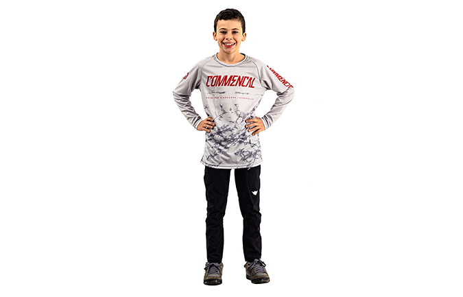 MAILLOT KID MANCHES LONGUES AMAURY PIERRON CHALK GREY 2019