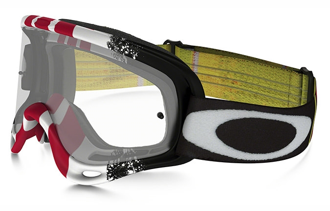 MASQUE OAKLEY O FRAME MX PINNED RACE ROUGE/BLANC/NOIR CLEAR LENS
