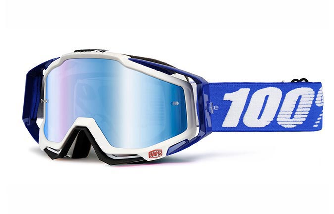 MASQUE 100% RACECRAFT COBALT BLUE MIRROR LENS
