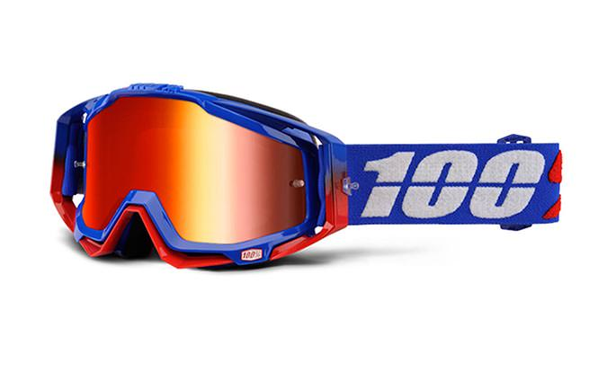 MASQUE 100% RACECRAFT REPUBLIC MIRROR RED LENS