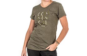 T-SHIRT 3 LINES OLIVE GIRLY 2018