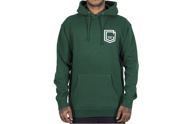 HOODIE COMMENCAL SHIELD DARK GREEN 2019