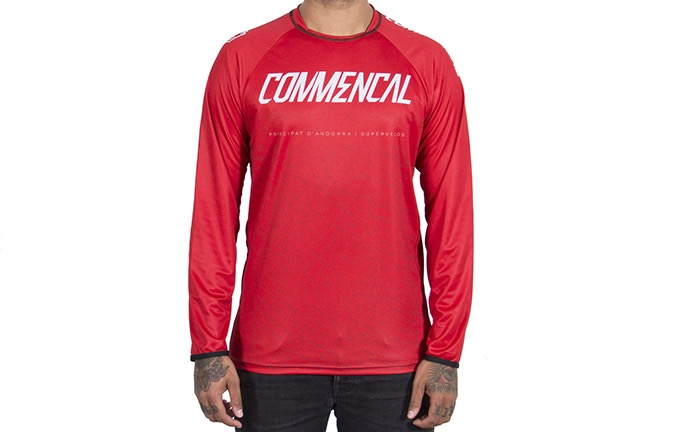 MAILLOT MANCHES LONGUES COMMENCAL RED