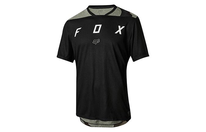 MAILLOT MANCHES COURTES FOX INDICATOR MASH CAMO BLACK 2018