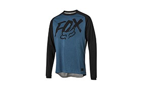 MAILLOT MANCHES LONGUES FOX KID RANGER DRY BRIGHT BLUE